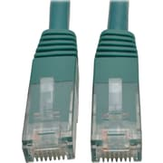 Tripp Lite 10ft Cat6 Gigabit Molded Patch Cable RJ45 M/M 550MHz 24AWG Green