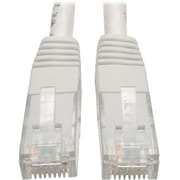 Tripp Lite 10ft Cat6 Gigabit Molded Patch Cable RJ45 M/M 550MHz 24AWG White
