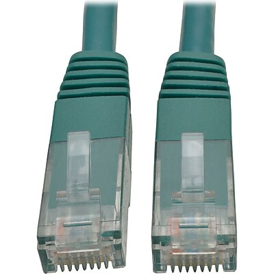 Tripp Lite 15ft Cat6 Gigabit Molded Patch Cable RJ45 M/M 550MHz 24AWG Green (N200-015-GN) IM18D9124