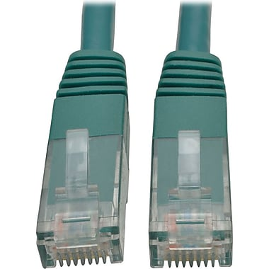 Tripp Lite 15ft Cat6 Gigabit Molded Patch Cable RJ45 M/M 550MHz 24AWG Green