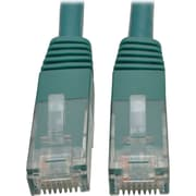 Tripp Lite 15ft Cat6 Gigabit Molded Patch Cable RJ45 M/M 550MHz 24AWG Green (N200-015-GN)