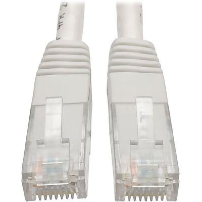 Tripp Lite 15ft Cat6 Gigabit Molded Patch Cable RJ45 M/M 550MHz 24AWG White IM18D9125