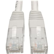 Tripp Lite 15ft Cat6 Gigabit Molded Patch Cable RJ45 M/M 550MHz 24AWG White
