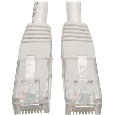 Tripp Lite 15ft Cat6 Gigabit Molded Patch Cable RJ45 M/M 550MHz 24AWG White (N200-015-WH)