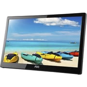 "AOC 16"" IPS Panel Full HD 1920x1080 220 cd/m2 Brightness USB 3.0 Powered Portable LED Monitor w/ Case I1659FWUX - PRO"