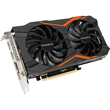 Gigabyte Ultra Durable VGA GV-N105TG1 GAMING-4GD GeForce GTX 1050 Ti Graphic Card, 1.39 GHz Core, 1.51 GHz Boost Clock