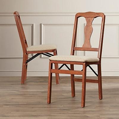 Alcott Hill McCain Side Chair (Set of 2); Cherry