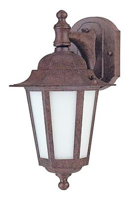 Alcott Hill Mayer 1-Light Outdoor Wall Lantern; Old Bronze