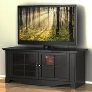 Alcott Hill Griffen 56'' TV Stand; Clear Glass