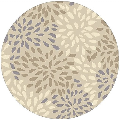 Alcott Hill Carrie Hand-Tufted Ivory Area Rug; Round 8'