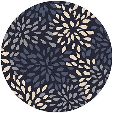 Alcott Hill Carrie Hand-Tufted Navy Area Rug; Round 8'