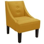Alcott Hill Moorcroft Linen Swoop Arm Chair; Napa Pewter
