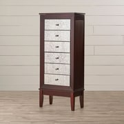 Alcott Hill Curtis Jewelry Armoire w/ Mirror by