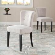 Alcott Hill Cyrus Parsons Chair (Set of 2); Hunter Light Beige