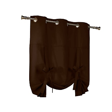 Alcott Hill Hopedale Grommet Tie-Up Thermal Single Curtain Panel; Chocolate