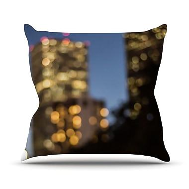 East Urban Home NOLA at Night by Ann Barnes City Lights Cotton Blend Throw Pillow