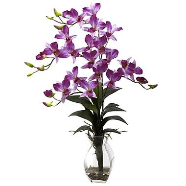World Menagerie Dendrobium Orchid w/ Vase; Purple