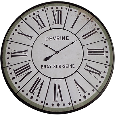 August Grove White Oversized 48'' Wall Clock