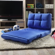 Inspired Home Co. Loungie Micro-Suede 5-Position Adjustable Convertible Flip Chair; Blue