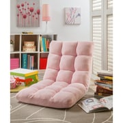 Inspired Home Co. Loungie Supersoft Folding Adjustable Lounger Game Chair; Pink