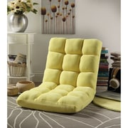 Inspired Home Co. Loungie Supersoft Folding Adjustable Lounger Game Chair; Yellow
