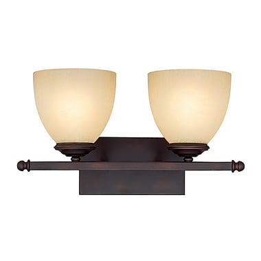 Alcott Hill Farrell 2-Light Vanity Light; Burnished Bronze