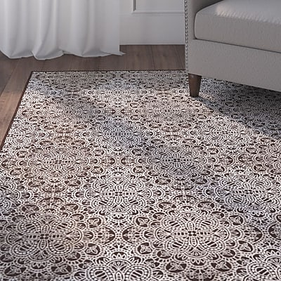 Alcott Hill Eagleview Chocolate Area Rug; 7'10'' x 11'