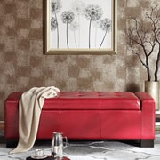 Alcott Hill Valerie Storage Bedroom Bench; Red