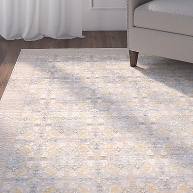 Alcott Hill Hartsville Light Gray Area Rug; 9' x 12'