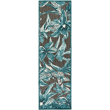 Alcott Hill Winfrey Black Indoor/Outdoor Area Rug; Square 7'6''