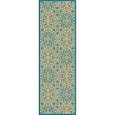 Alcott Hill Winfrey Teal Area Rug; Square 7'6''