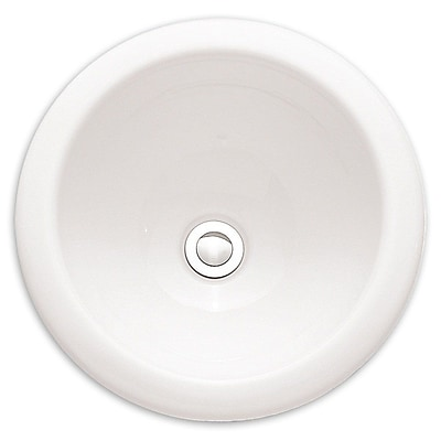 American Standard Vitreous China Circular Undermount Bathroom Sink w/ Overflow; White