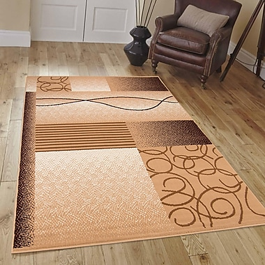 AllStar Rugs Hand-Woven Brown Area Rug; 5'2'' x 7'1''