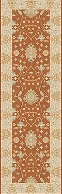 Astoria Grand Raffles Hand Tufted Brown/Beige Area Rug; Runner 2'6'' x 8'