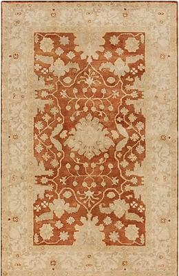 Astoria Grand Raffles Hand Tufted Brown/Beige Area Rug; 5' x 7'6''