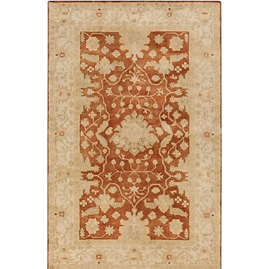 Astoria Grand Raffles Hand Tufted Brown/Beige Area Rug; 8' x 10'