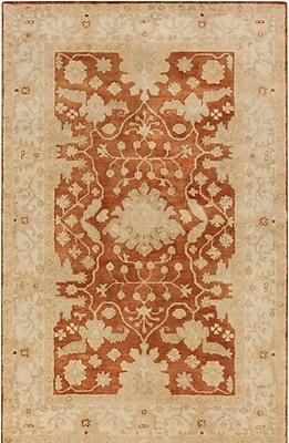 Astoria Grand Raffles Hand Tufted Brown/Beige Area Rug; 8' x 10'
