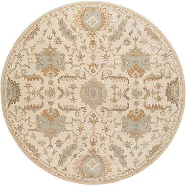 Astoria Grand Kempinski Hand-Tufted Beige Area Rug; Round 8'