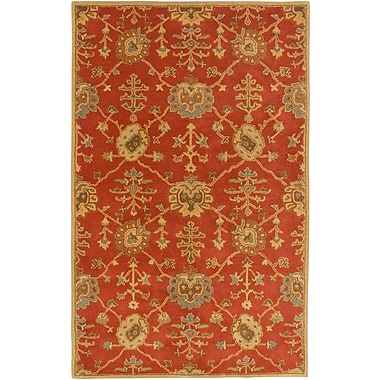 Astoria Grand Kempinski Hand-Tufted Beige/Orange Area Rug; 9' x 12'