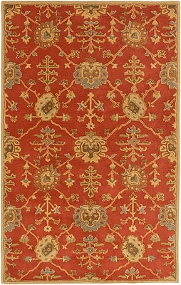 Astoria Grand Kempinski Hand-Tufted Beige/Orange Area Rug; 4' x 6'