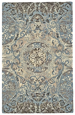 Astoria Grand Palmer Hand-Tufted Twilight Area Rug; Rectangle 7'9'' x 9'9''