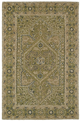 Astoria Grand Eugene Hand-Tufted Green Area Rug; 5' x 9'