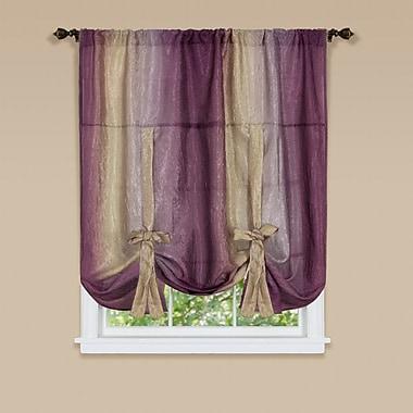 Astoria Grand Velia Tie Up Single Curtain Panel; Aubergine