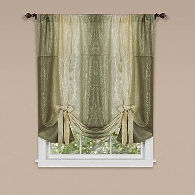 Astoria Grand Velia Tie Up Single Curtain Panel; Sage