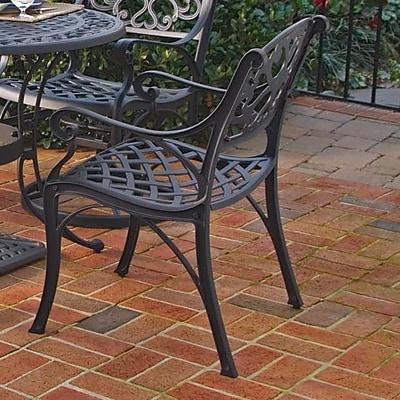 Astoria Grand Van Glider Patio Dining Chair (Set of 2); Black