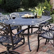 Astoria Grand Van Glider Oval Outdoor Dining Table; Antique Black