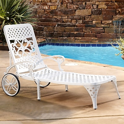 Astoria Grand Van Glider Chaise Lounge; White