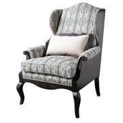 Astoria Grand Wing back Chair; Black
