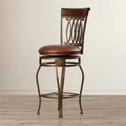 Astoria Grand Copenhagen 28'' Swivel Bar Stool w/ Cushion