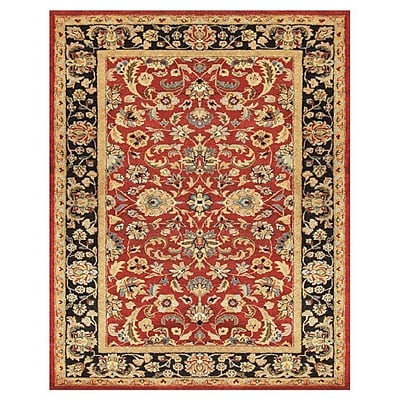 Astoria Grand Bavis Red/Black Area Rug; 5' x 8'